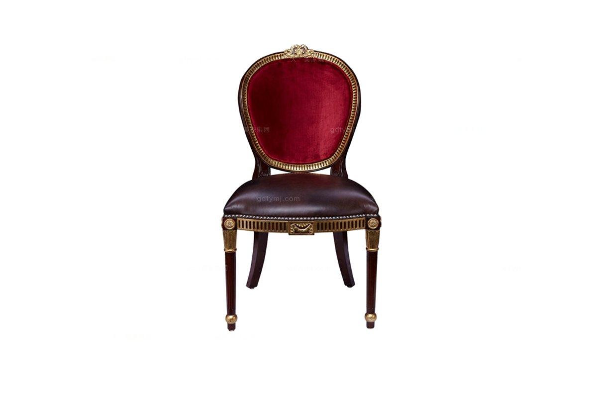 高端别墅家具雕花真皮平手椅