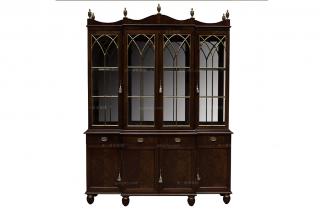 高端欧式家具上下实木酒柜