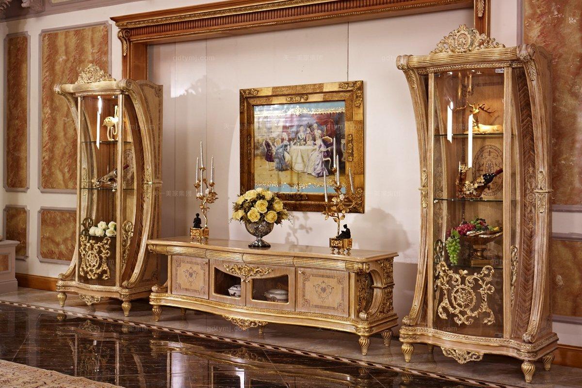 欧式高端家具电视柜