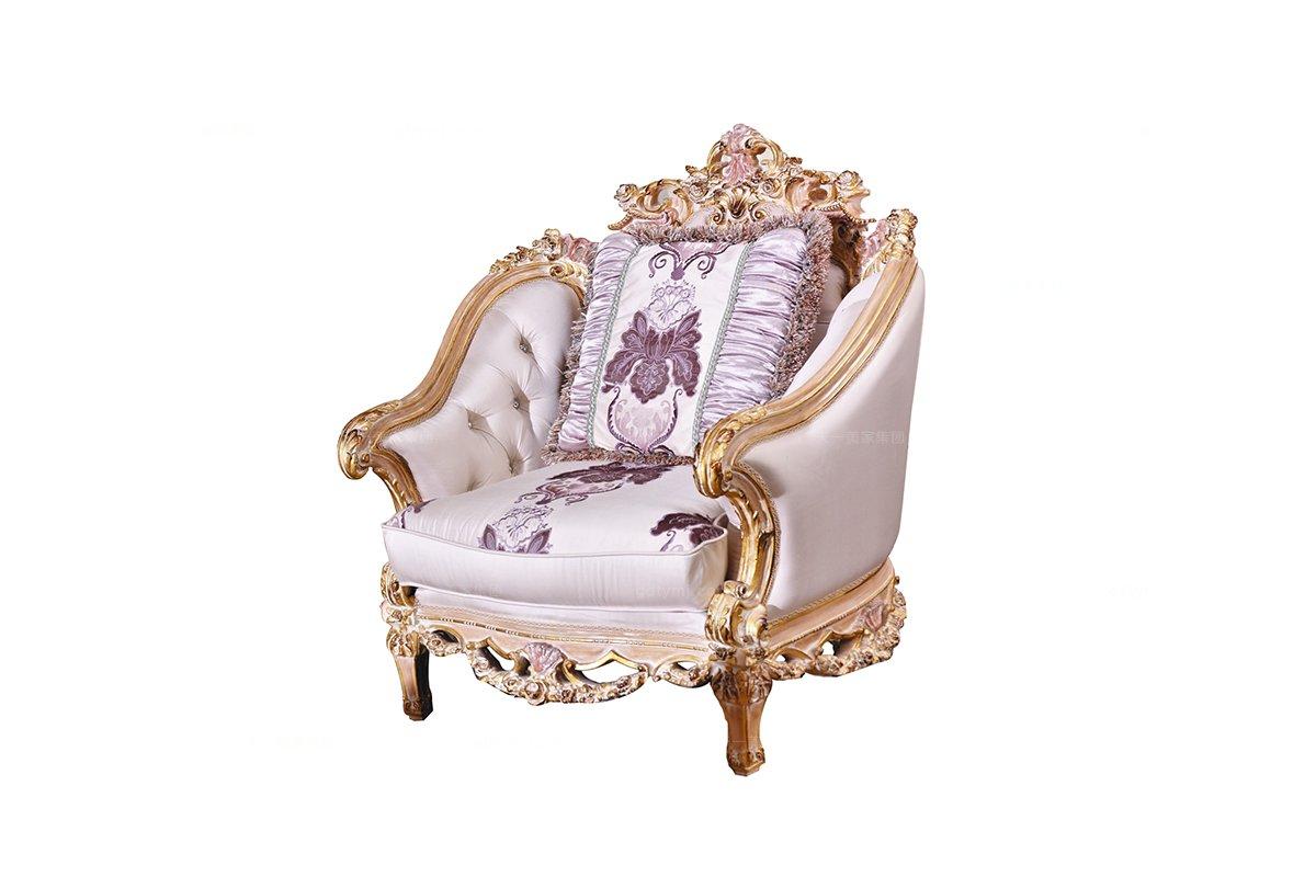 别墅万博手机网页欧式雕刻单人沙发