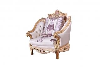 88bf必发娱乐家具欧式雕刻单人沙发