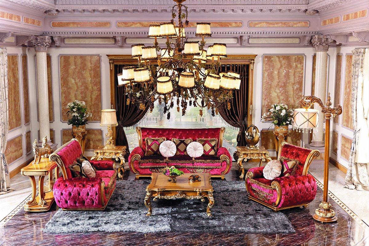 高端别墅沙发组合三位沙发