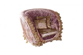 别墅万博手机网页欧式精致雕刻单人沙发