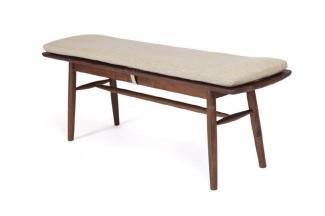 高端东南亚家具实木长板凳