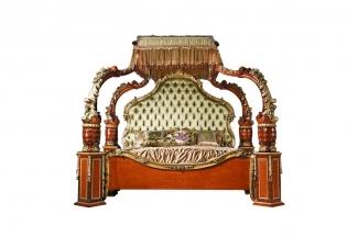 欧式高端家具双人床