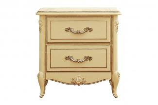 高端法式家具象牙白实木床头柜