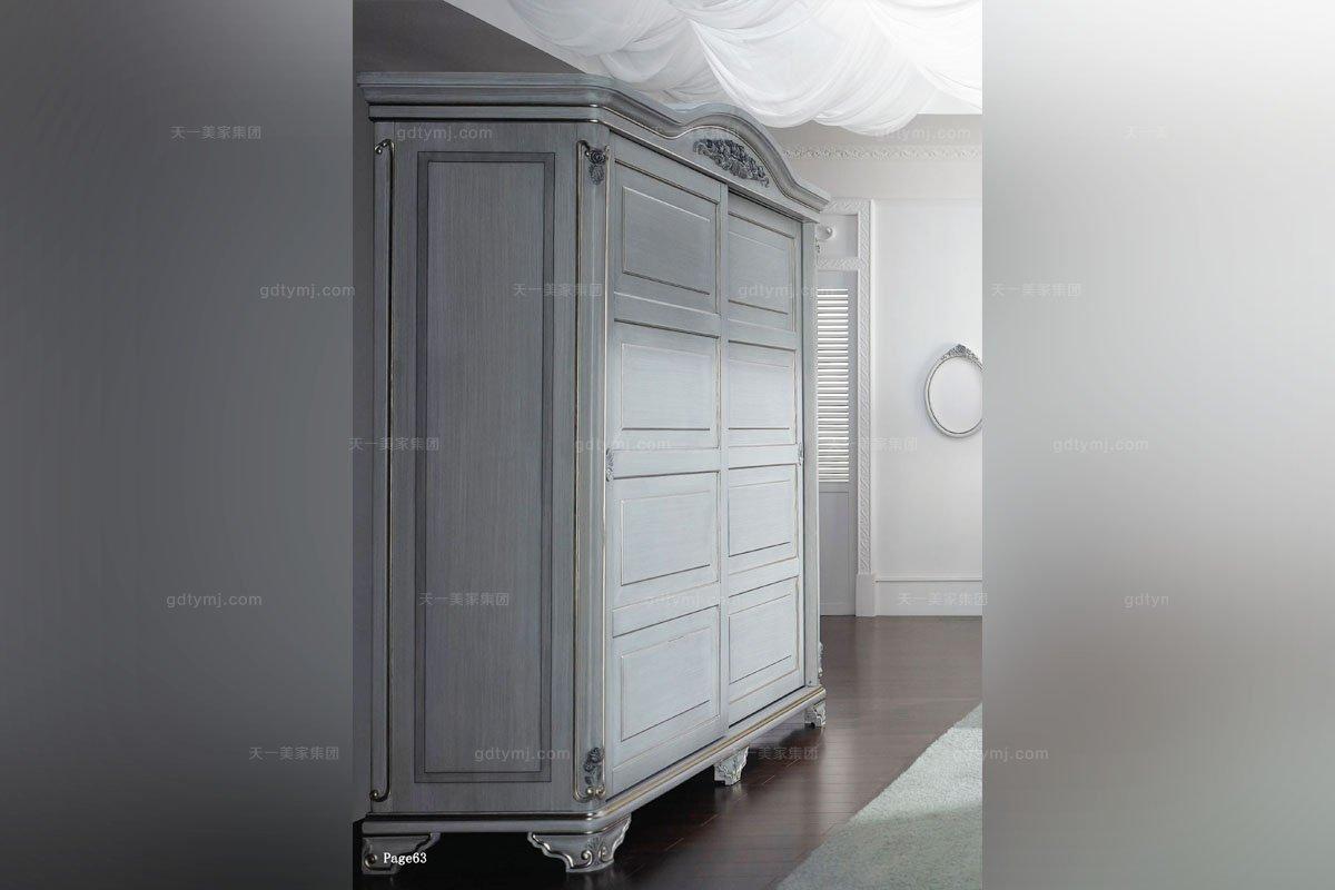 高档样板房家具实木衣柜