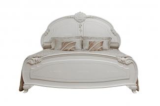国内高端家具品牌实木象牙白双人床