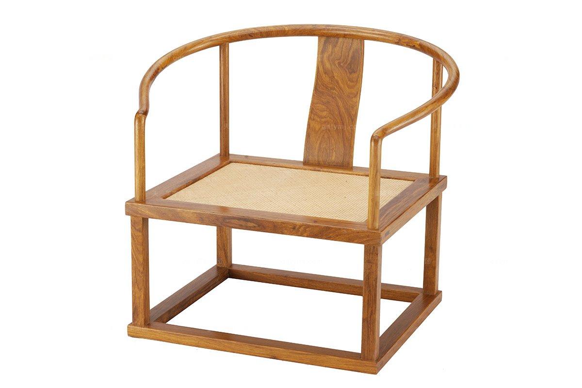 实木万博手机网页红木朝板禅椅