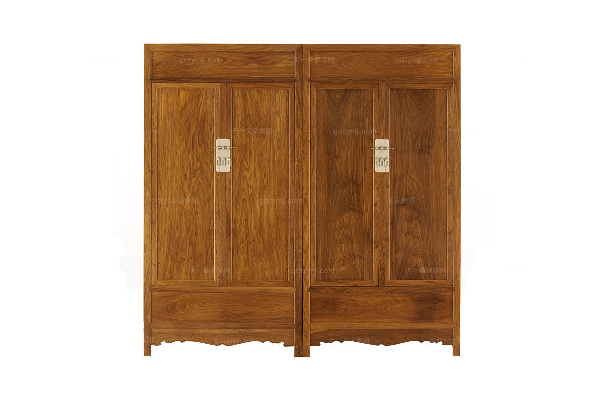 别墅会所实木家具红木衣柜