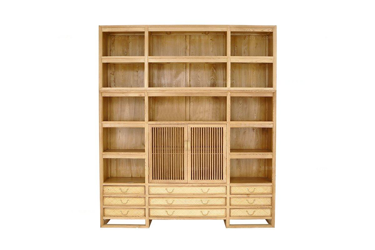 别墅会所纯实木家具图片红木展示柜