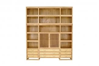 别墅会所纯实木万博手机网页图片红木展示柜
