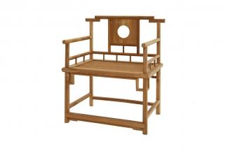 别墅会所实木家具红木官帽椅