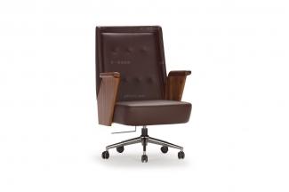 高端时尚现代黑色皮质书椅