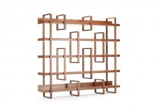 高端时尚现代露木色书架