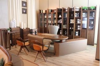 高档样板房的家具时尚现代造型白色书椅