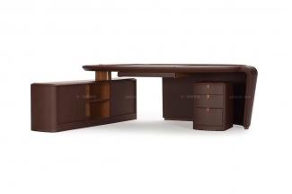 高端品牌现代多功能木色书桌