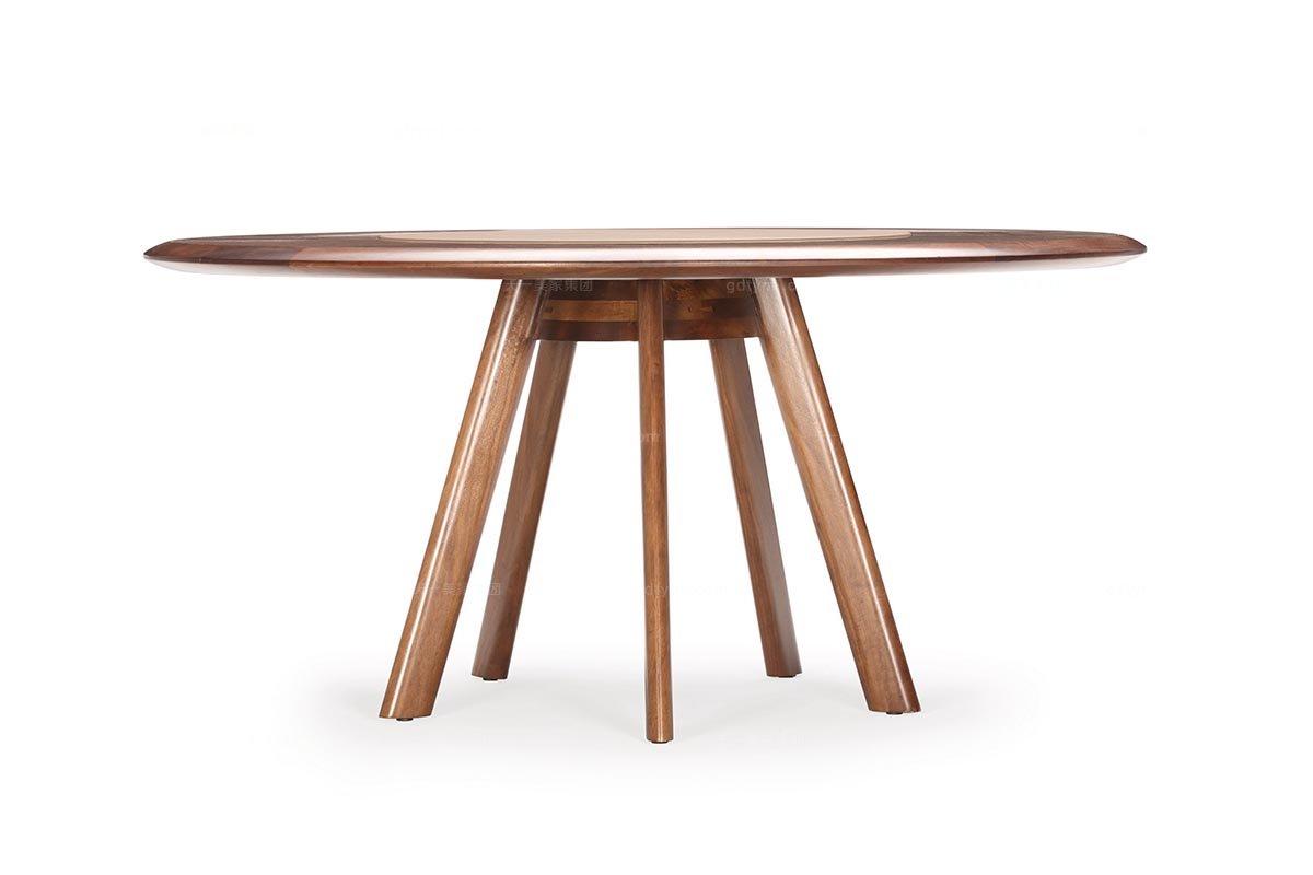 现代风格高档家具实木圆餐桌
