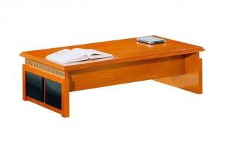 高端品牌橙色万字线办公长几