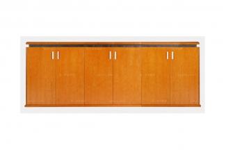 高端品牌橙色六门办公地柜