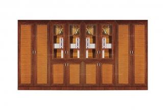 高端品牌八门棕色办公文件柜