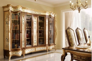 Andrea Fanfani 高端品牌别墅法式彩绘四门书柜