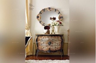Andrea Fanfani高端品牌欧式彩绘三斗柜