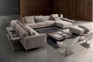 Dema 高端时尚现代布艺沙发客厅组合