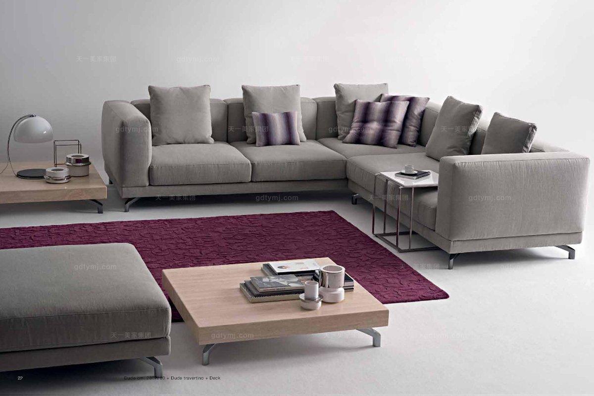 Dema高端时尚现代布艺转角沙发