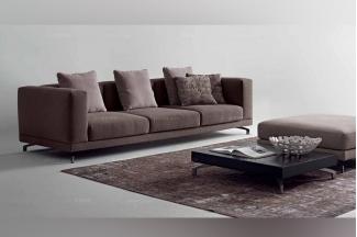 Dema高端时尚现代布艺三位沙发