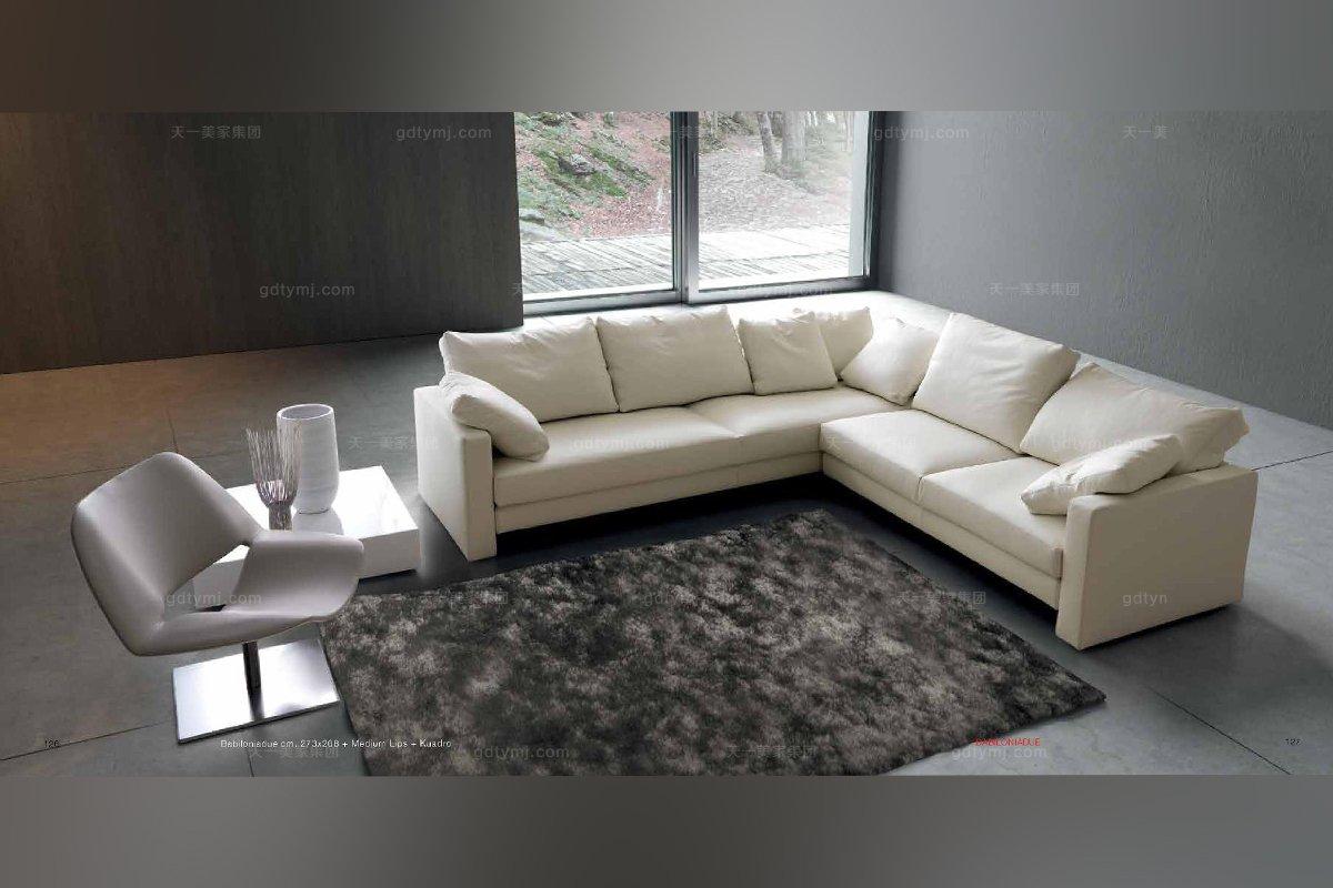 Dema高端时尚简约现代白色转角沙发