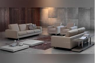 Dema高端时尚简约现代浅色沙发组合