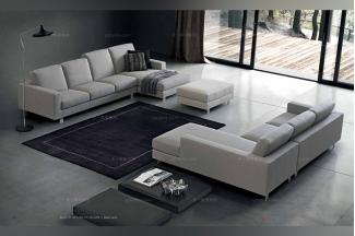 Dema 高端时尚简约现代浅色转角沙发
