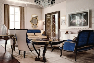 Carpanese新古典客厅组合蓝色系列