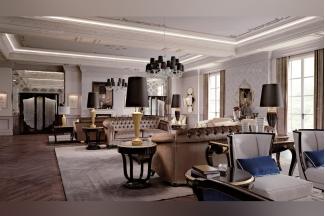 Carpanese新古典客厅灰色系列