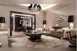 Carpanese新古典客厅咖啡色布艺系列