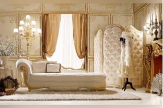Andrea Fanfani 高端时尚法式浅色布艺贵妃床