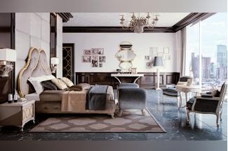 Carpanese新古典卧室布艺白色系列