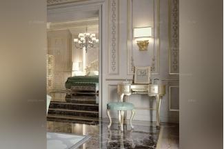 Carpanese新古典卧室妆台+妆凳