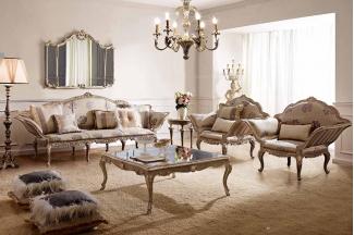 别墅家具Andrea Fanfani高端法式雕刻布艺沙发套组