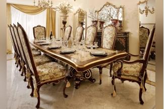 Andrea Fanfani高端时尚法式雕刻长餐桌/餐椅