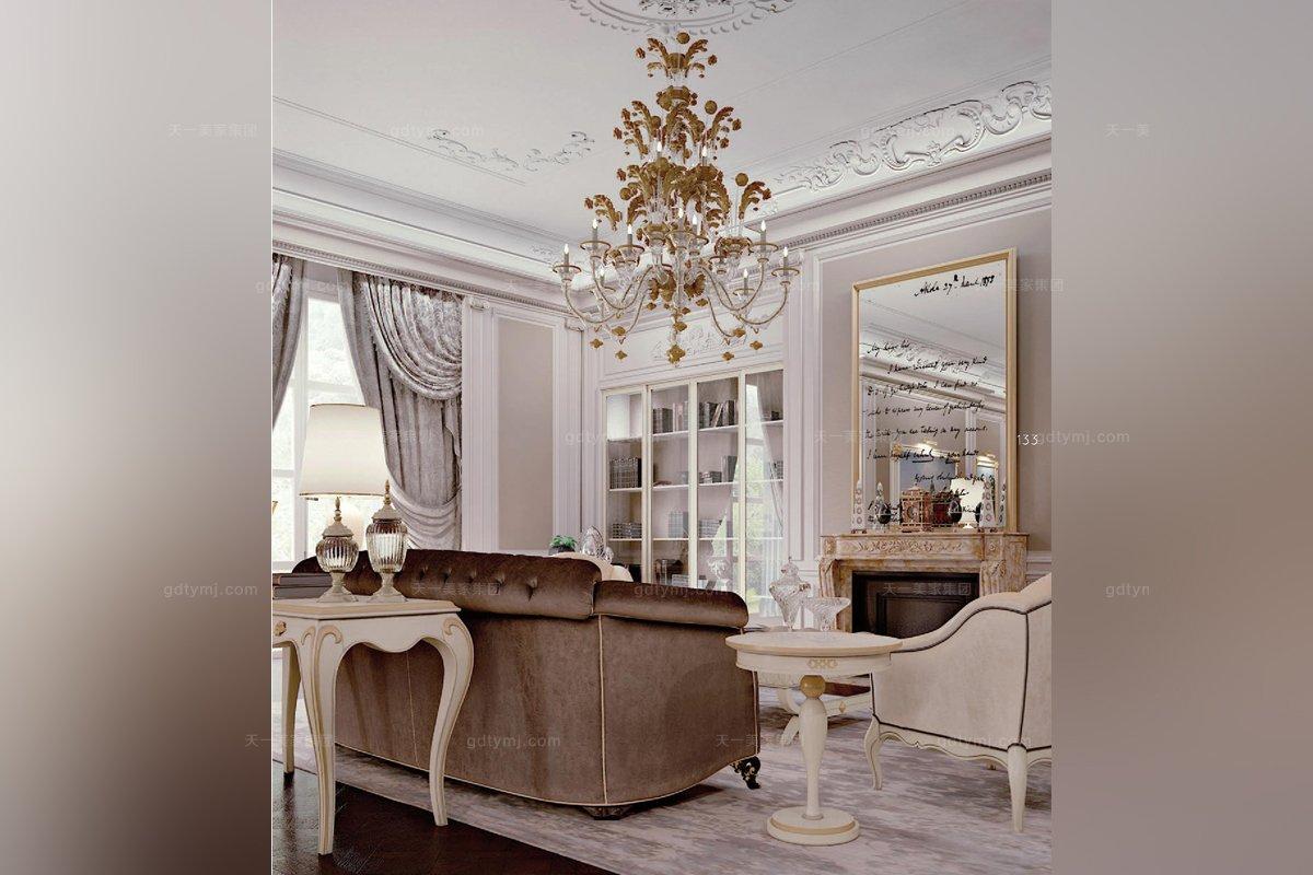 Carpanese新古典客厅组合布艺系列