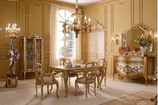 Andrea Fanfani 高端品牌法式雕刻仿古长餐台/餐椅