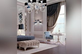 Carpanese新古典卧室布艺休闲椅