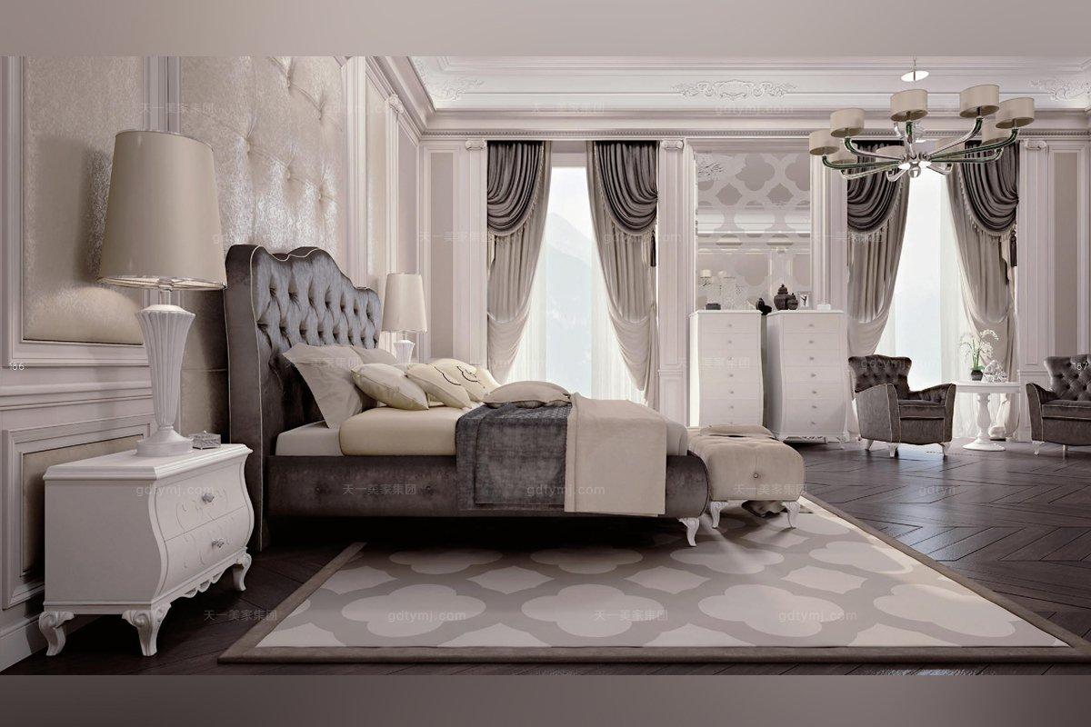 新古典风格家具Carpanese新古典卧室布艺系列