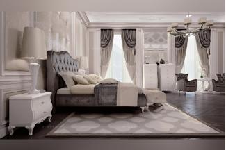 新古典风格万博手机网页Carpanese新古典卧室布艺系列