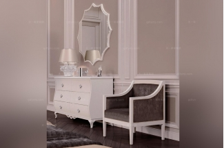 Carpanese新古典白色妆台