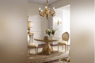 Andrea Fanfani高端品牌法式雕刻仿古圆餐台/餐椅