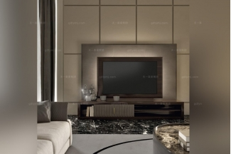 Daytona后现代露木纹客厅电视柜