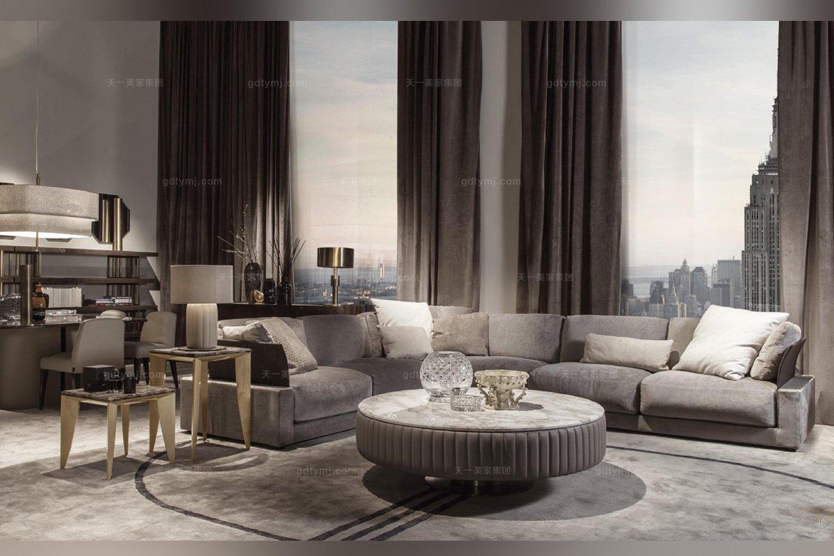 daytona后现代客厅布艺沙发系列_意大利家具